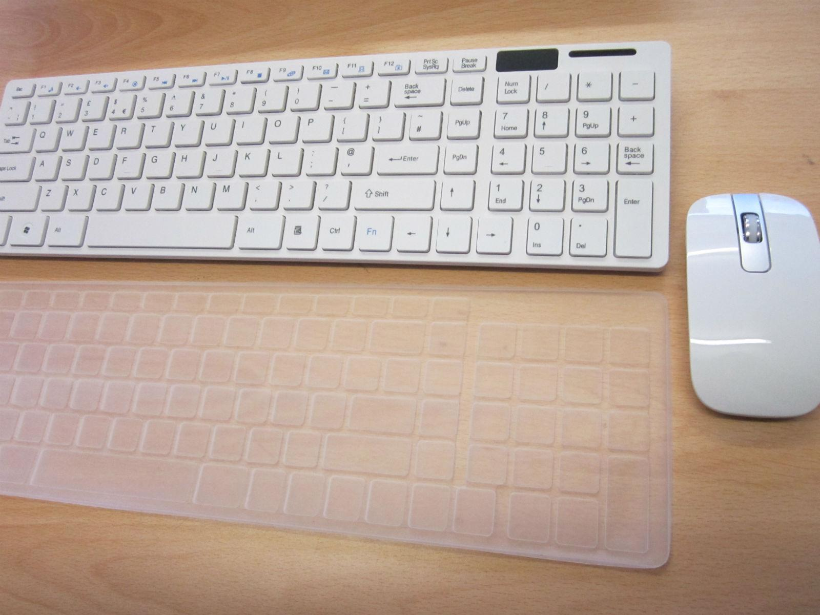 white wireless keyboard and mouse number pad for lenovo all in one pc ebay. Black Bedroom Furniture Sets. Home Design Ideas