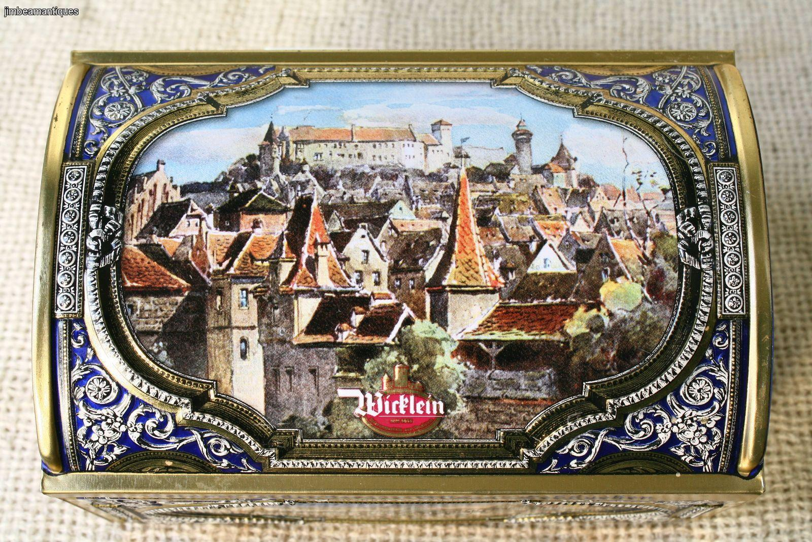 nurnberg germany lebkuchen gottfried wicklein cookie tin chest music box ebay. Black Bedroom Furniture Sets. Home Design Ideas