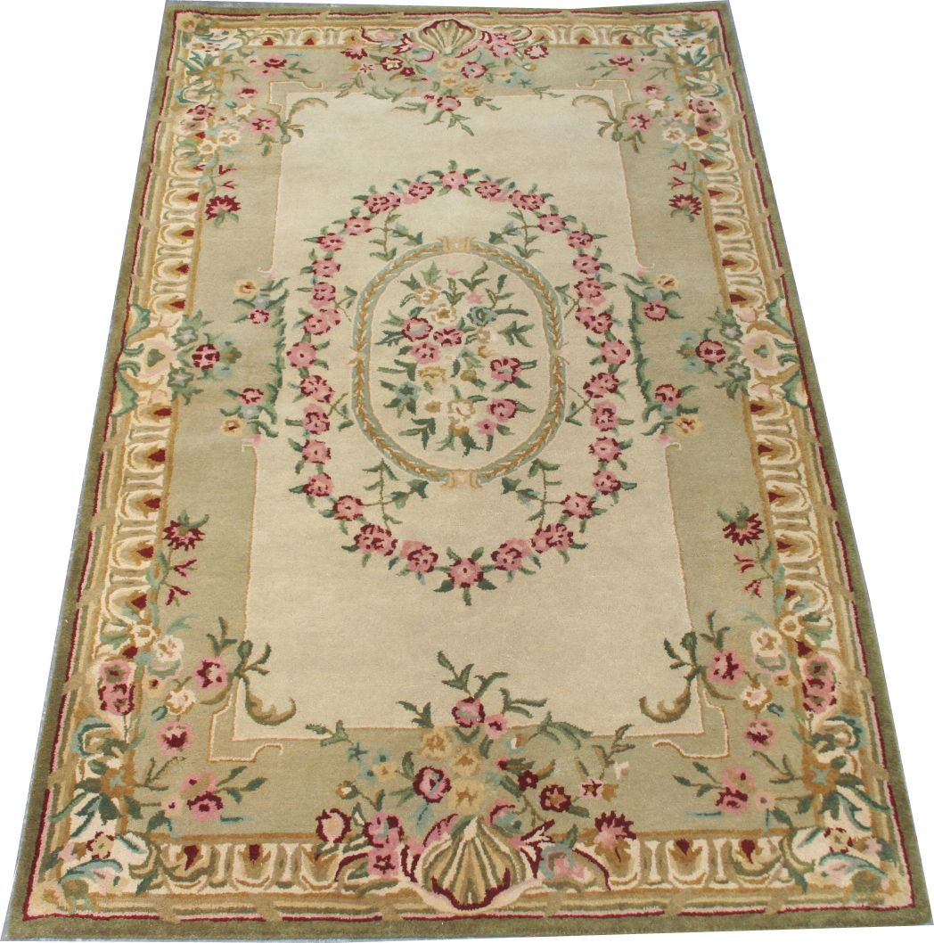 tapis tuft style savonnerie 151x242 cm tapis d 39 orient tapisseries d 39 aubusson anciennes. Black Bedroom Furniture Sets. Home Design Ideas