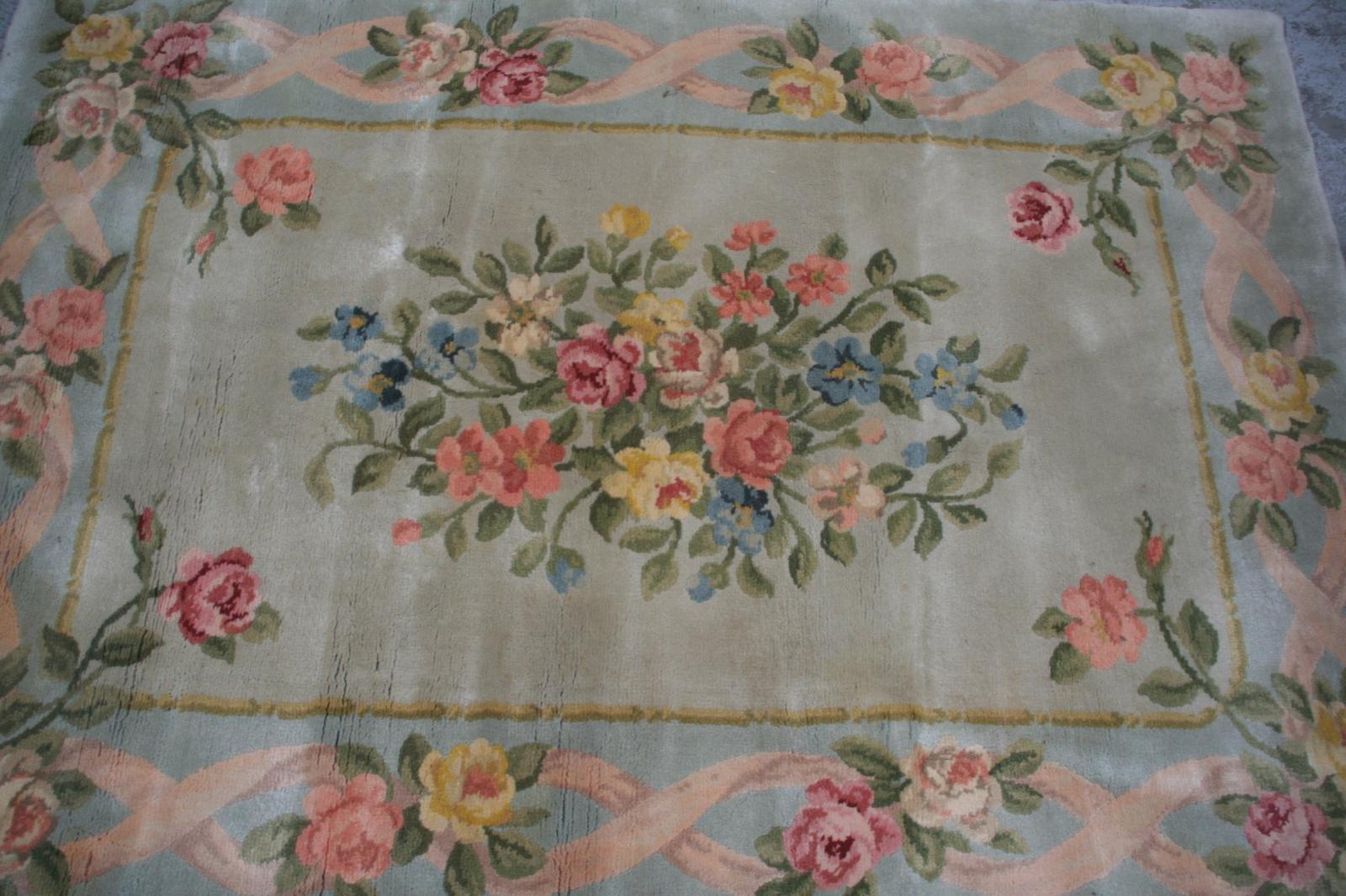 tapis ancien fran ais savonnerie aubusson 120x195 cm tapis d 39 orient tapisseries d 39 aubusson. Black Bedroom Furniture Sets. Home Design Ideas