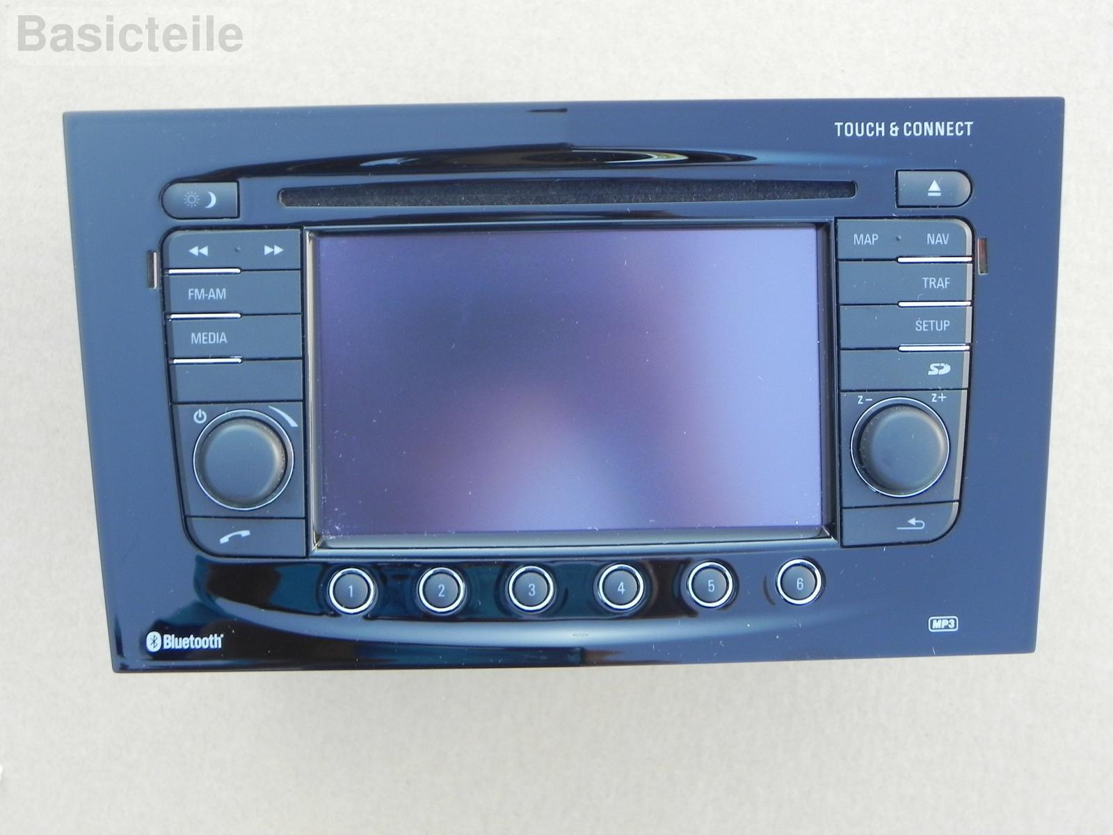 opel vauxhall corsa d radio navi touch connect schwarz. Black Bedroom Furniture Sets. Home Design Ideas