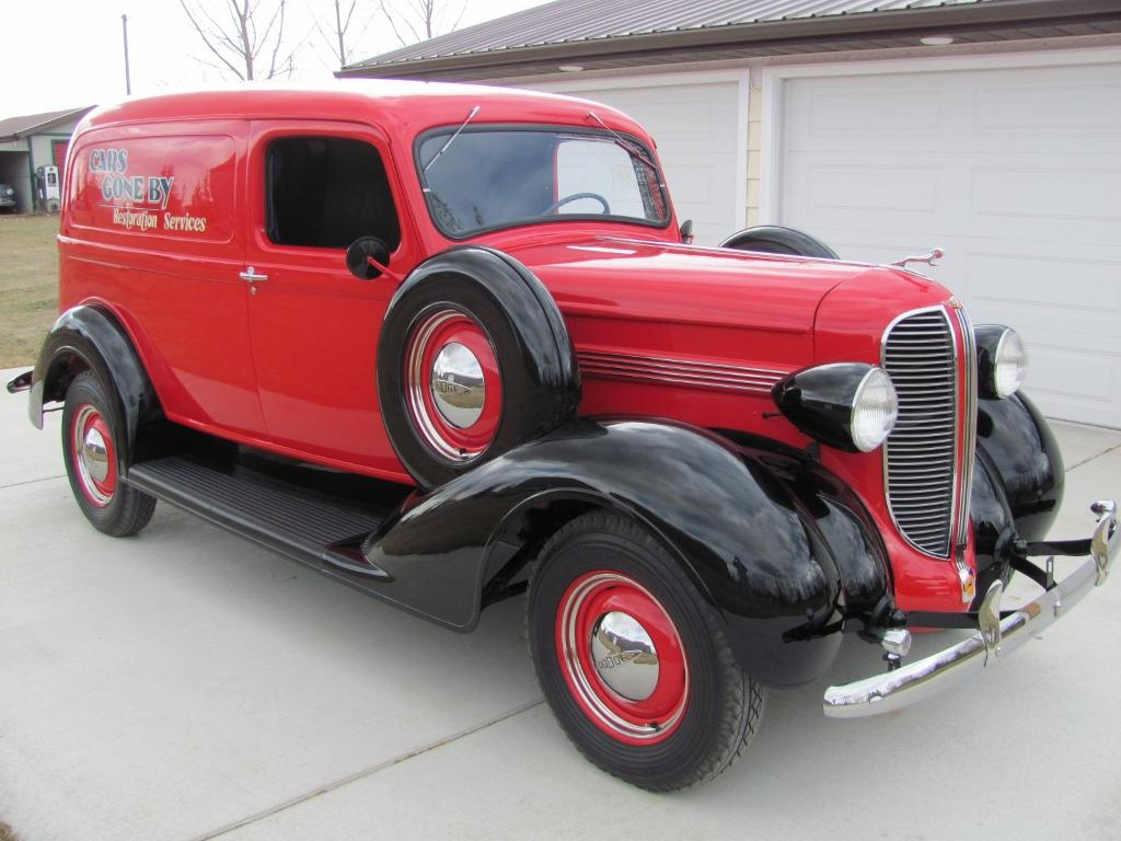 1938 Dodge truck red was called 20th Century Red. In some pics the color  may look somewhat orange due to camera flash.