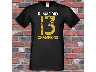 44cef42d9 Real Madrid 13 Champions League Winners Shirt 1 st time 3 in a row T-Shirt.