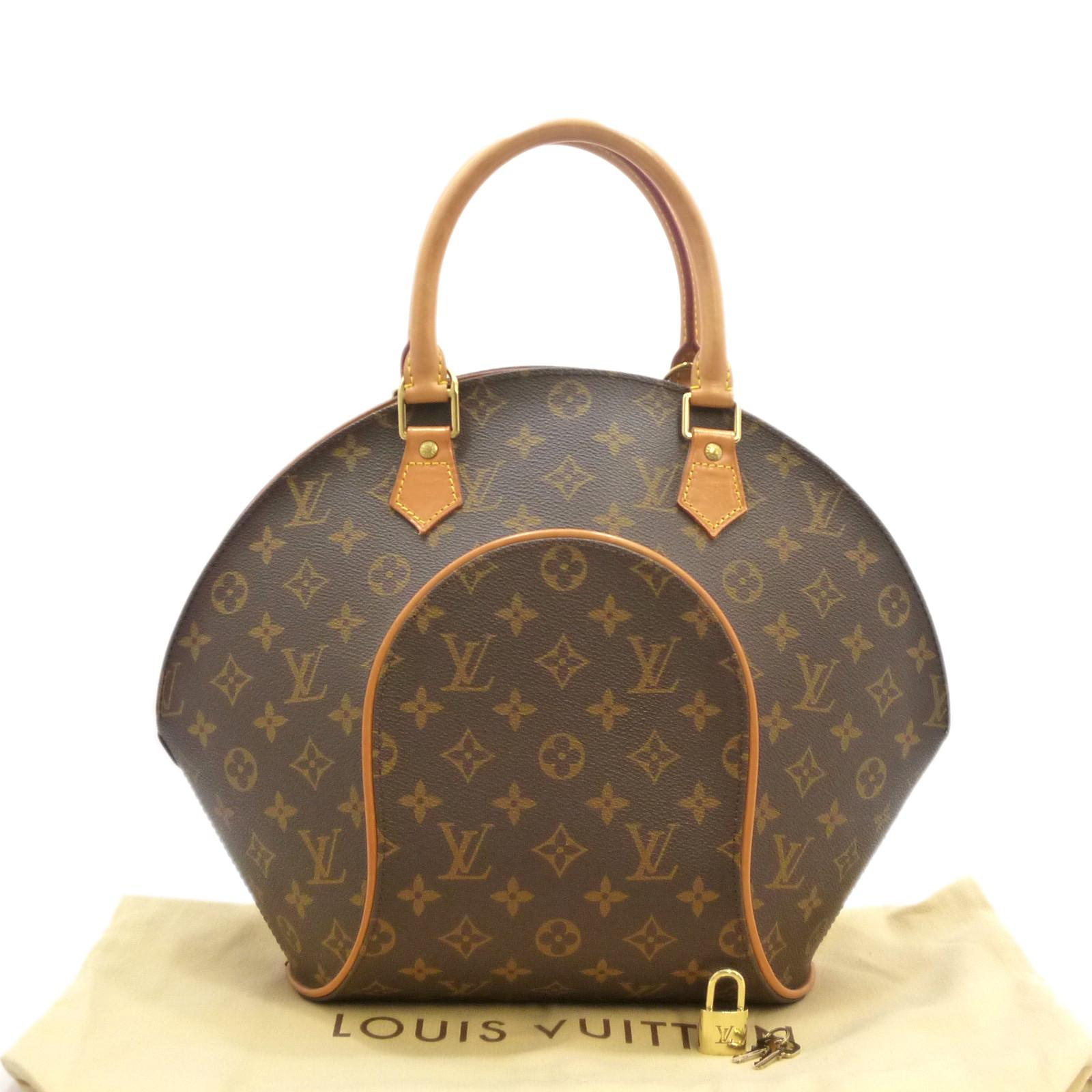 Details about Authentic LOUIS VUITTON Ellipse MM Hand Bag Monogram Canvas  M51126  S207055 5a2eaecf016fd
