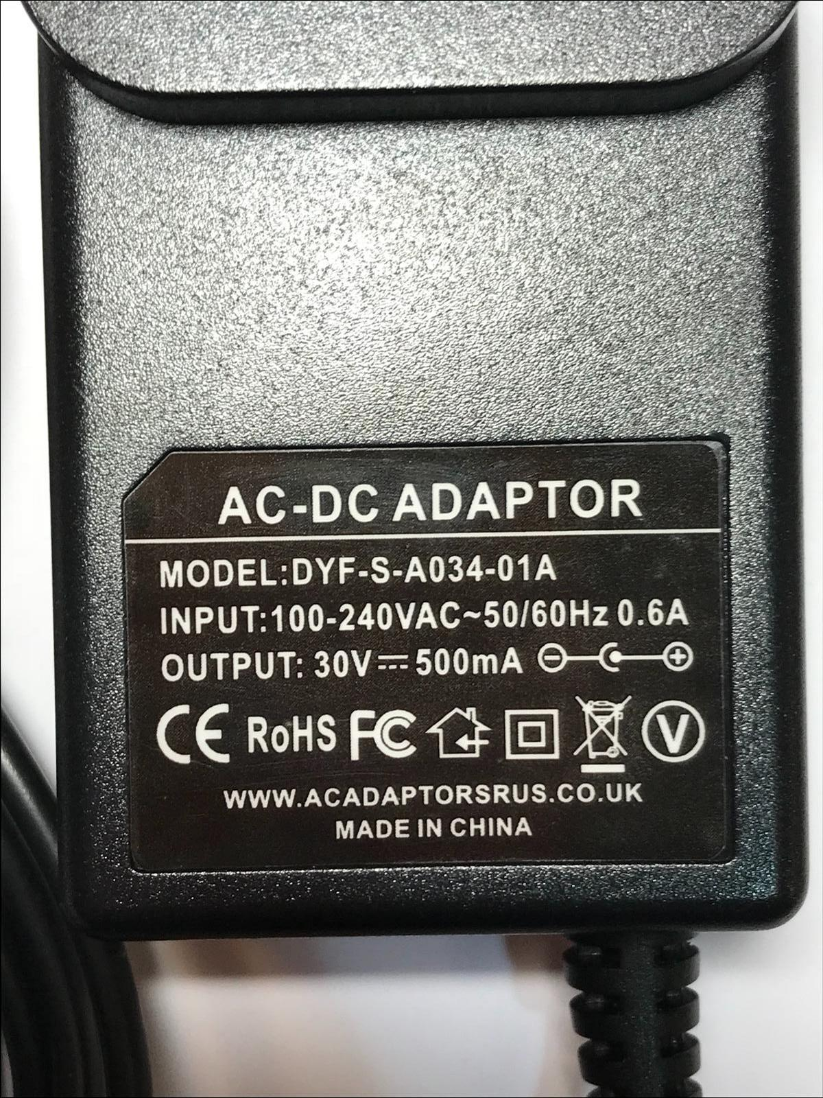 30V 500mA AC Adaptor Charger for Bosch BCH6PETGB Athlet