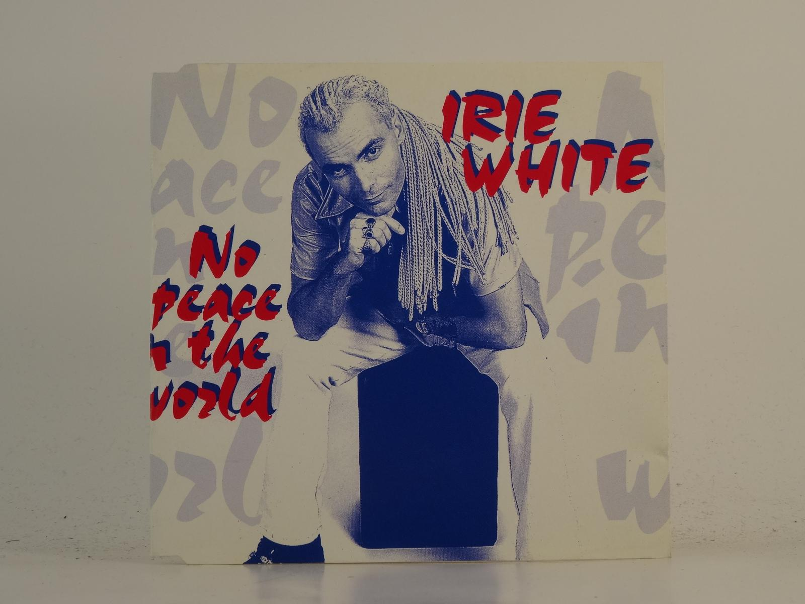 IRIE WHITE, NO PEACE IN THE WORLD, VG/G, 4 Track, CD Single, Picture Sleeve, JAN