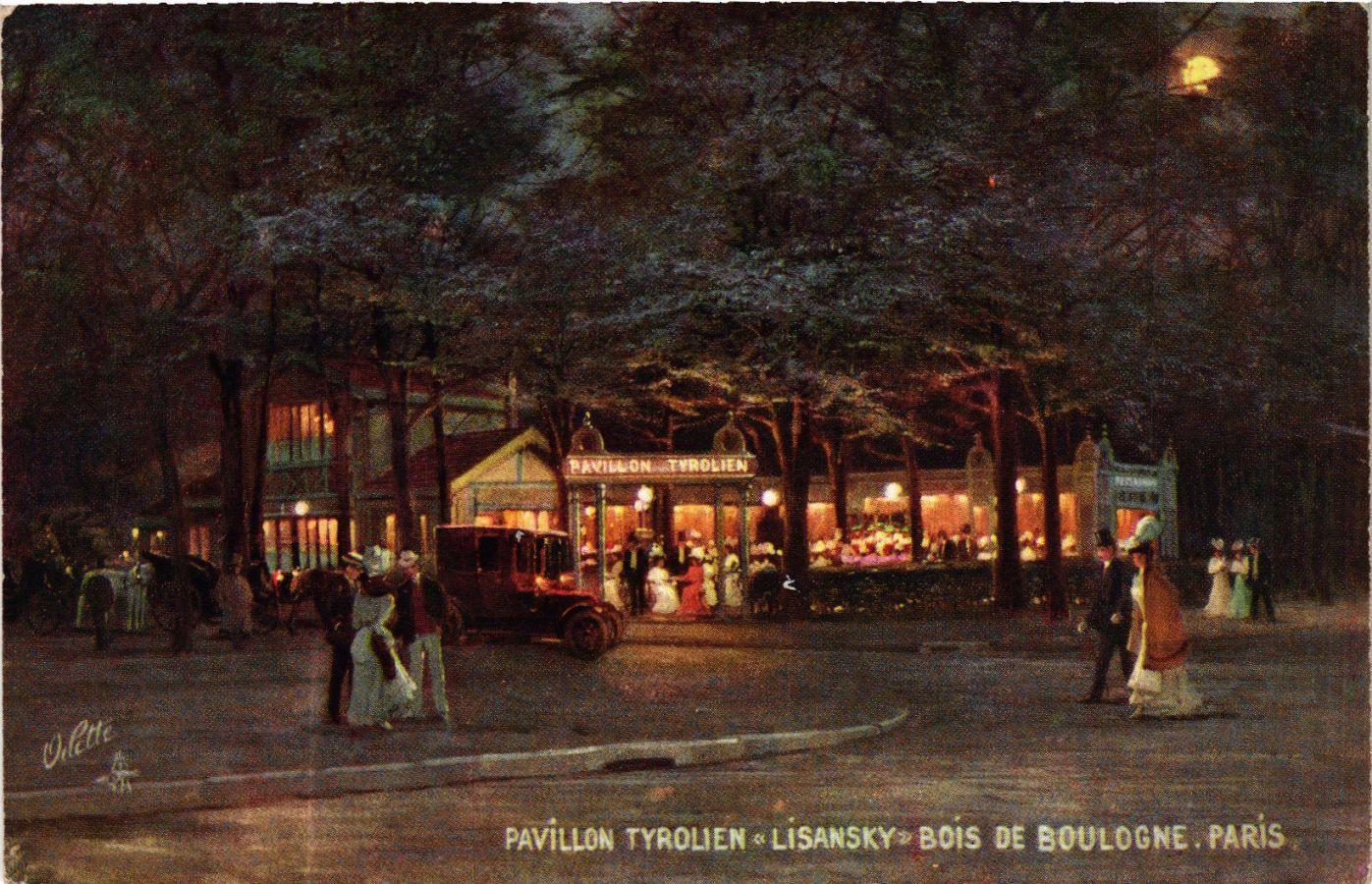 CPA PARIS 16e Pavillon Tyrolien Lisansky. Bois de Boulogne (574265)