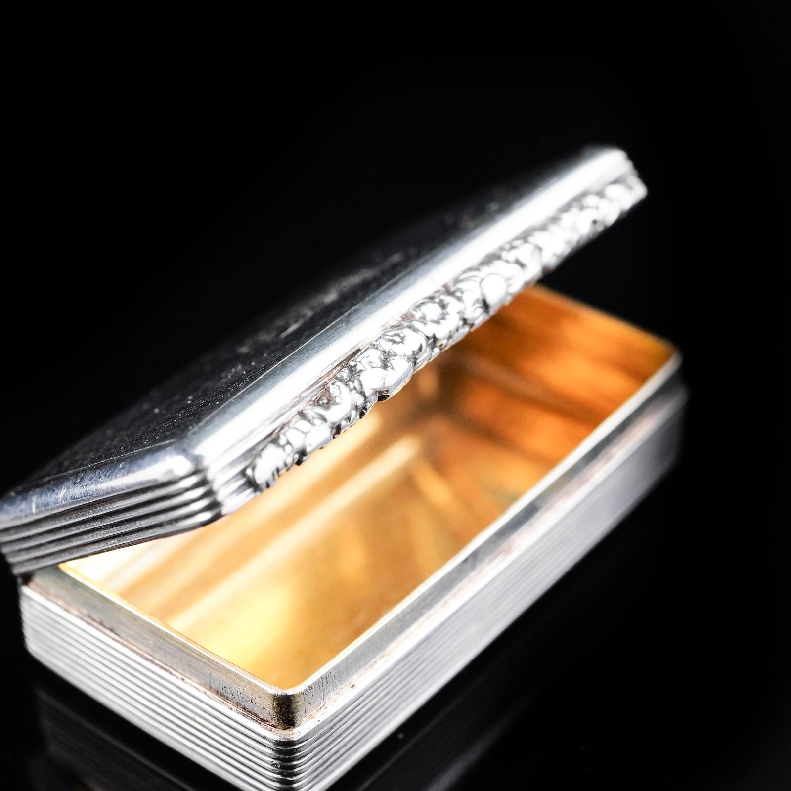 Silver Discreet Antique Original Silver Perfect Enamel Match Box Non-u.s. Silver