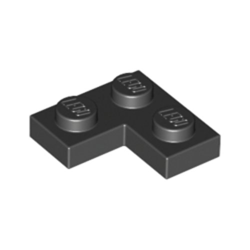 8x Plate Flat Corner L 2x2 Black//Black 2420 New Lego