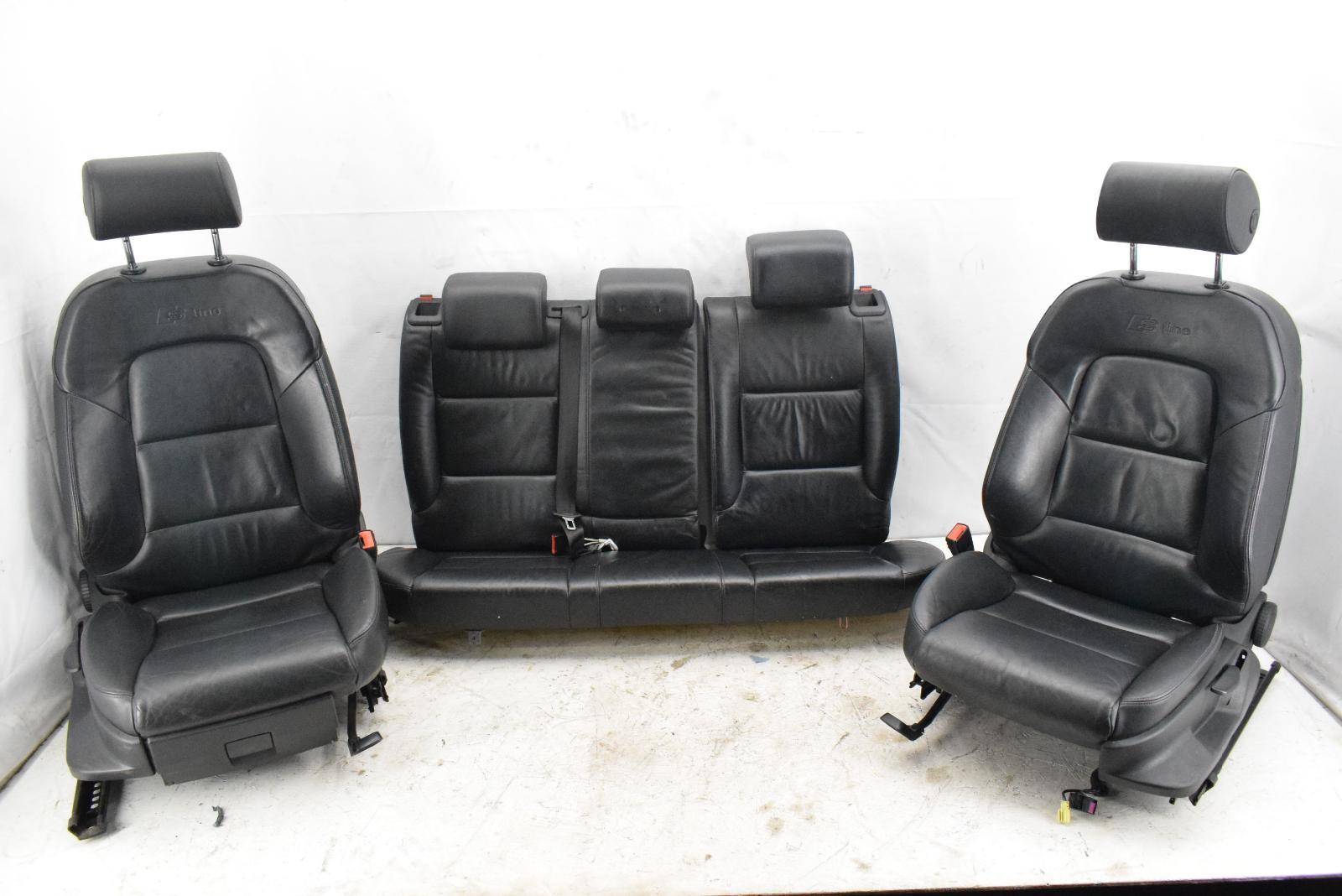 Audi A3 8P 3.2 S-LINE 4 Tür Komplett Schwarz Leder Sitze Vorne & Heck | eBay