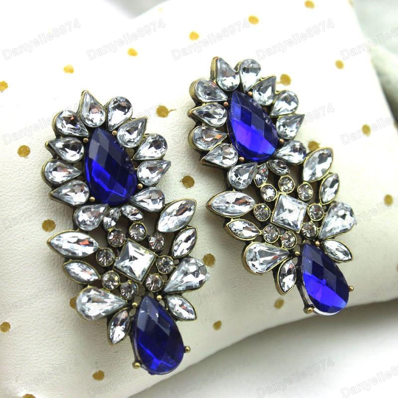 Rhinestone Earrings Vintage Style Retro