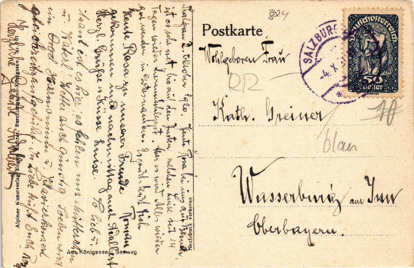 CPA-AK-Konigssee-Seeweg-GERMANY-878905 miniature 2