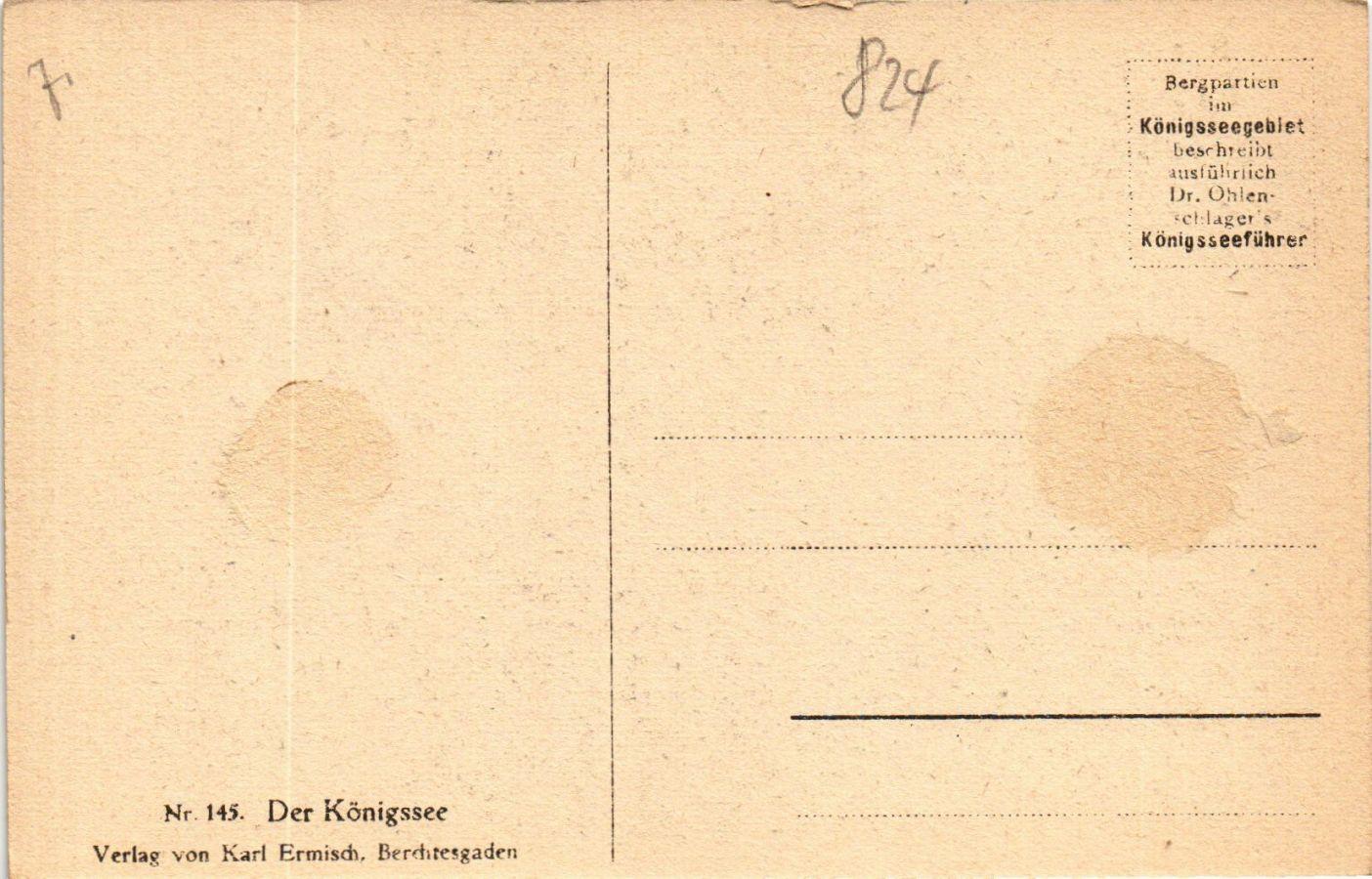 CPA-AK-Der-Konigssee-GERMANY-879331 miniature 2