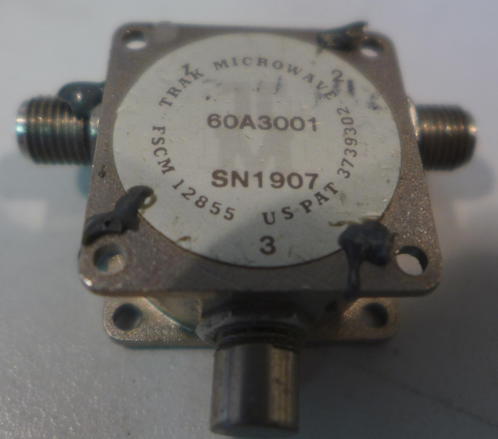 2.5-5.0 GHz TRAK MICROWAVE 60A3011 Isolator 18 dB