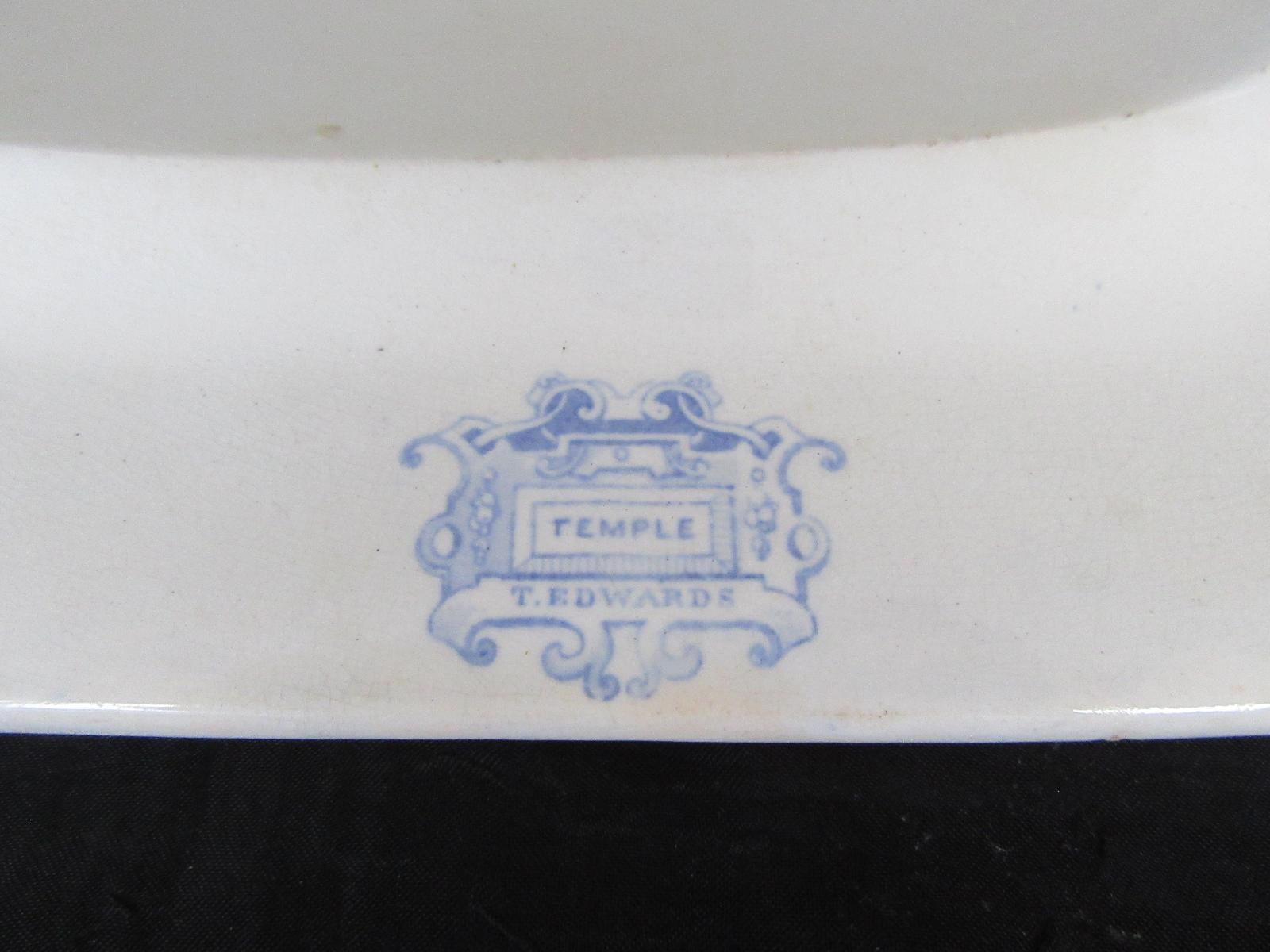 Vintage Edward Don /& Co Empress Tray wGrey and White Design E3538