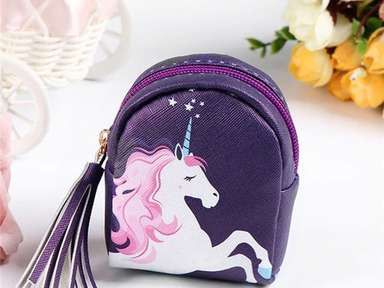 Coin Purse Tablet Accessory Ear Bud Holder Gift For Teens Small Zipper Pouch